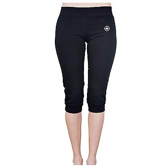 Dethrone Women's Capri Fitness Pants - Black