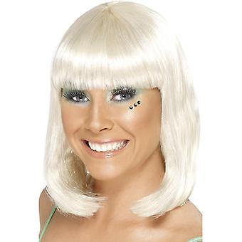 Partij GoGo meisje partij pruik middellange lange blonde pruik
