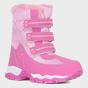 New Alpine Girl's Fur Snow Boots Pink