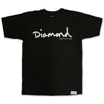 Diamond Supply Co OG Script T-shirt Black