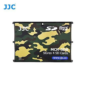 JJC Mini Memory Card houder voor 4 x SD, SDHC of SDXC kaarten (Camouflage)