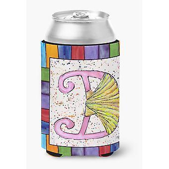 Letter D with Shell Can or Bottle Beverage Insulator Hugger 8427
