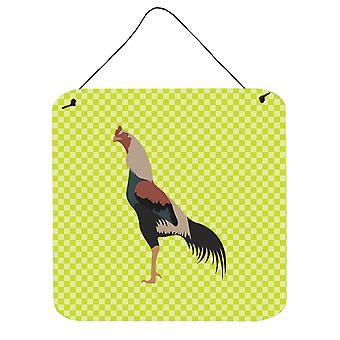 Carolines trésors BB7664DS66 Kulang poulet vert mur ou porte accrocher impressions