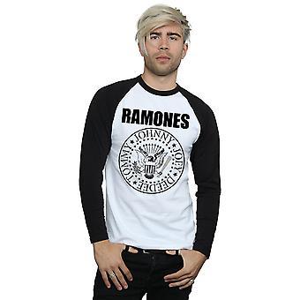 Ramones Men's Presidential Seal Long Sleeved Baseball Shirt