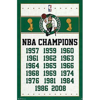 ボストン ・ セルティックス - チャンピオン 2013年ポスター ポスター印刷
