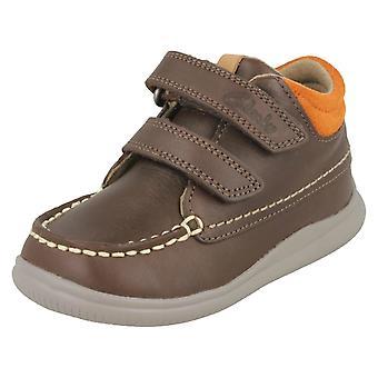 De eerste schoenen jongens door Clarks enkellaars Cloud Tuktu