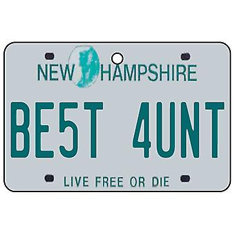 New Hampshire - Best Aunt License Plate Car Air Freshener