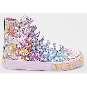 Lelli Kelly Flamingo LK5098 Rainbow Glitter Baseball Boots