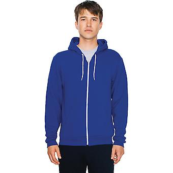 American Apparel Mens Flex Fleece Unisex lakenpose Zip Hettegenser