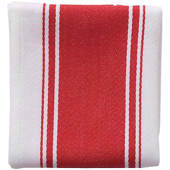 Love Colour Striped Tea Towel, Scarlet