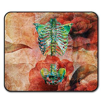 Brustkorb Skelett Anti-Rutsch-Mauspad Pad 24 x 20 cm | Wellcoda