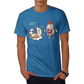 Funy Laughing Clown Men Royal BlueT-shirt   Wellcoda