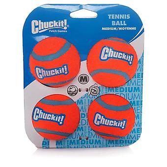 Chuckit Dog Tennis Ball Medium 6.5cm, 4 per pack, Dog Toy
