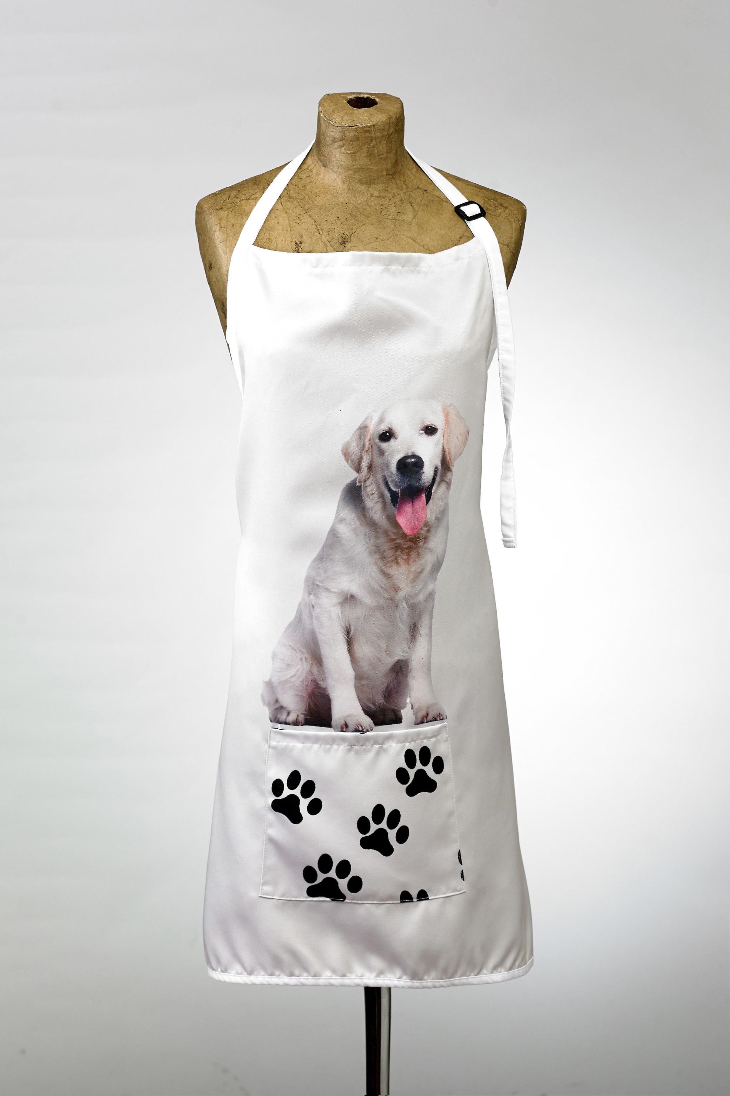Adorable golden retriever design apron