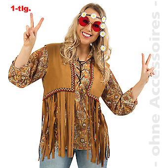 Chaleco de traje de Señor de hippie chaleco hombres hippie franja chaleco niño de flor