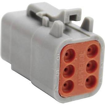 ATM06 أمفينول 6S عيار موصل المقبس، سلسلة مستقيمة (موصلات): العدد الإجمالي الصراف الآلي لدبابيس: 6 1 pc(s)