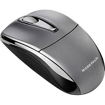 Basetech M105GX Radio Wi-Fi mouse Optical Black, Gri