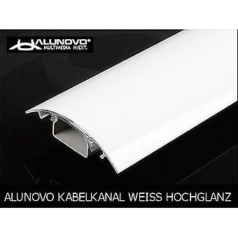 Alunovo HW90-070 Cable duct (L x W x H) 700 x 80 x 20 mm 1 pc(s) White (glossy)