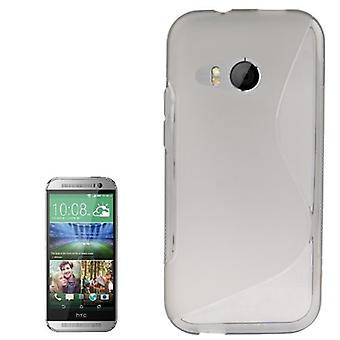 HTC 1 つミニ 2 グレーのモバイル ケース TPU 保護ケース