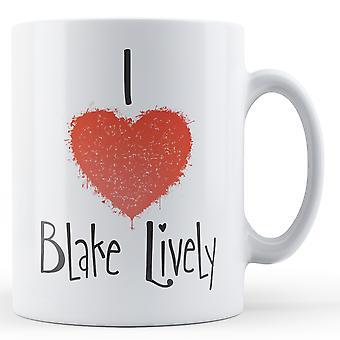 Dekorative schreiben ich liebe Blake lebhaft bedruckte Becher