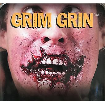 Grim Grin Zombie Walking Dead Horror Injury Halloween Mens Costume Prosthetic