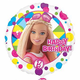 Anagram 18in Barbie Sparkle Happy Birthday Round Foil Balloon