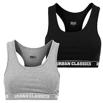 Urban Classics kvinders bustier top logo