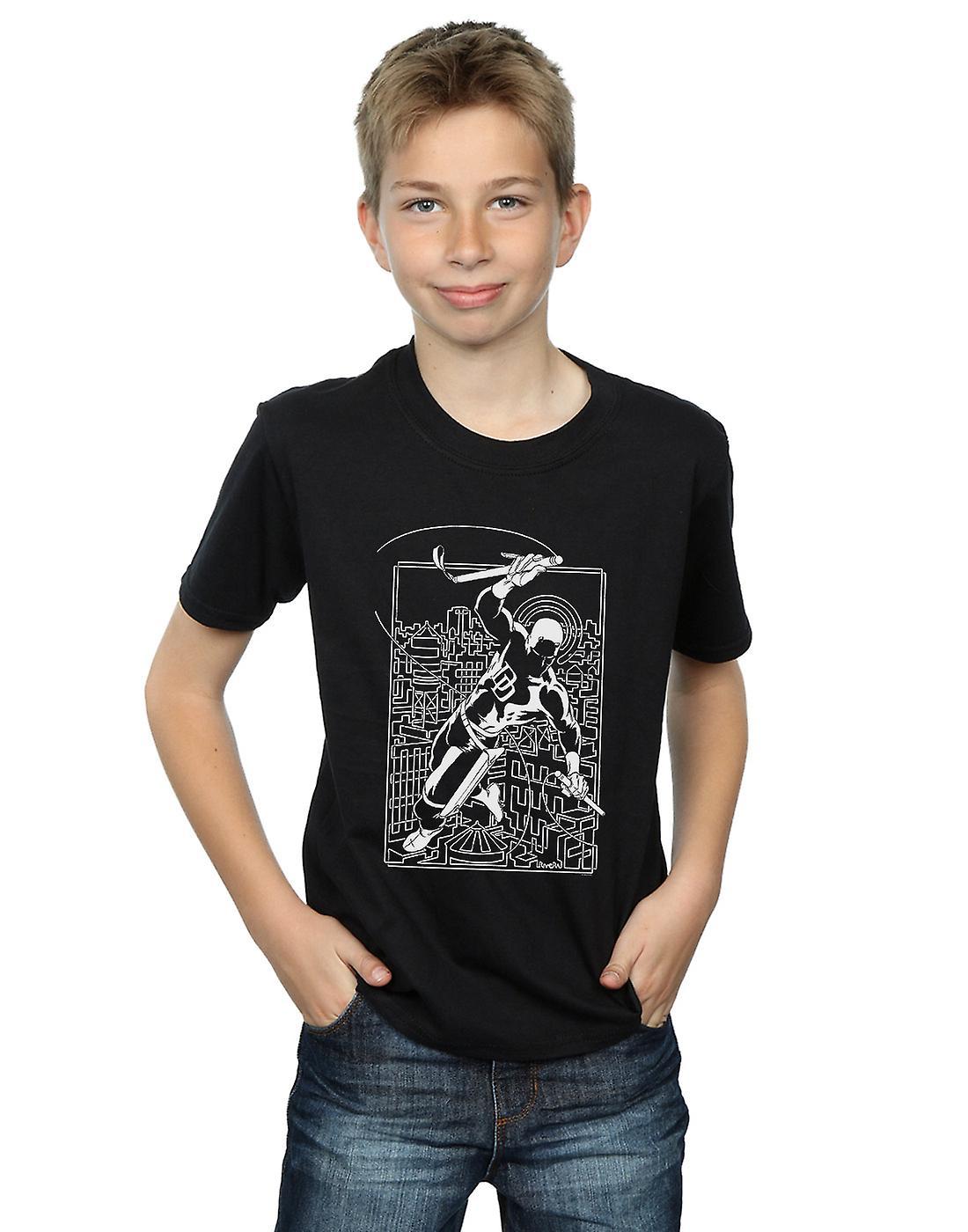 Marvel Boys Daredevil Silhouette T-Shirt
