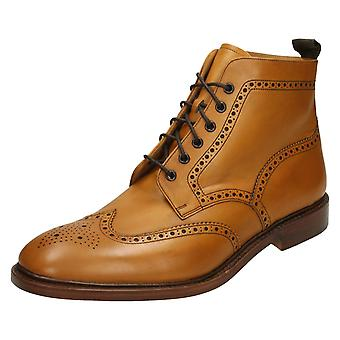 Mens Loake Brogue Lace Up Boots Burford 2