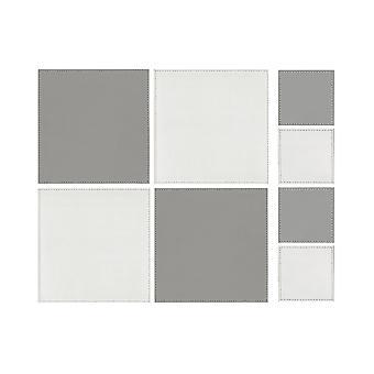 iStyle placu odwracalne biały i szary podkładki i podkładki 4 szt.