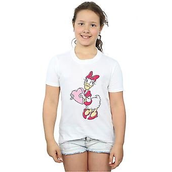 Disney Girls Daisy Duck Love Heart T-Shirt
