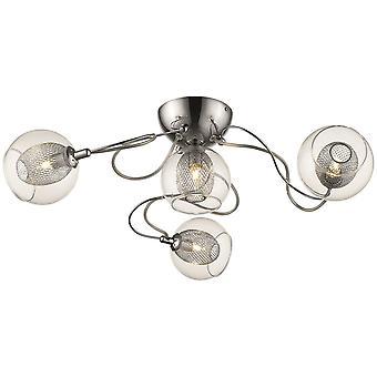 Éclairage - Liverpool Chrome quatre lumière encastré montage DBOP063DI4GMVT de printemps