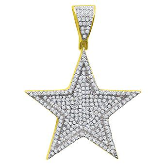 925 sterling hopea micro pave Riipukset - gold STAR