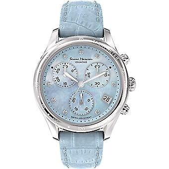 Serene Marceau Diamond Watch Analogueico quartz ladies watch with leather S 012.02