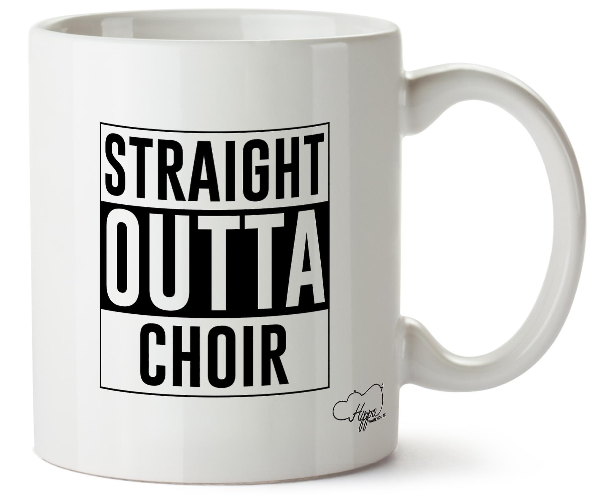 Hippowarehouse Straight Outta Choir Printed Mug Cup Ceramic 10oz