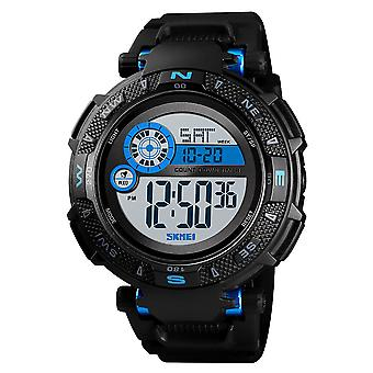 Skmei Large Dial Digital Watch Day Date Alarm Stopwatch Tough Sports Watch DG1467BLU