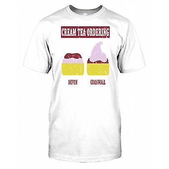 Cream Tea beställning - Devon & Cornwall Mens T Shirt