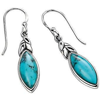 Feuille de débuts en forme de boucles d'oreilles - Turquoise