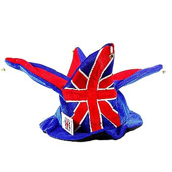 Union Jack Wear Union Jack Jester Hat - 4 Points With Bells