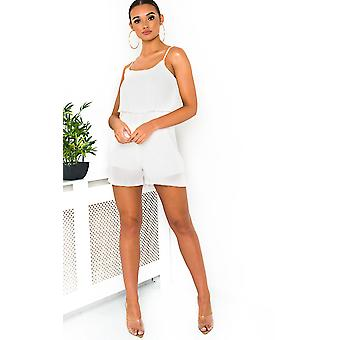 IKRUSH Womens Bella Pleated Overlay Playsuit ONE  (8-12)
