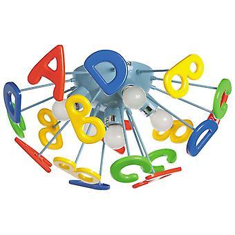 Glasberg-colorato ABC bambino cinque luce semi-flush raccordo 365013705