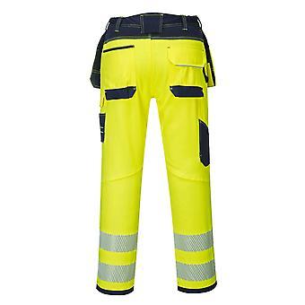 Portwest - visie Hi-Vis veiligheid werkkleding broek