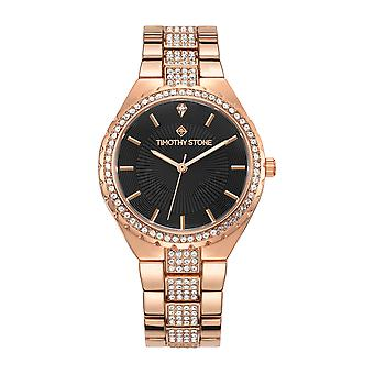 Timothy Stone Women's GALA Rose Gold and Black Watch