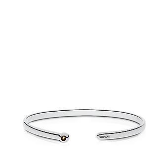 University Of Oklahoma Engraved Sterling Silver Smokey Quartz Cuff Bracelet