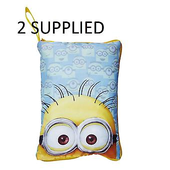 Worlds Apart Despicable Me Minion Hide 'n' Sleep Cushion Bundle 2 Supplied