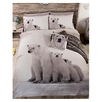 Eisbär Familie Bettbezug und Kissenbezug Set