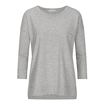 Mey 16806-439 Women's Night2Day Demi Grey Melange Cotton 3/4 Sleeve Top