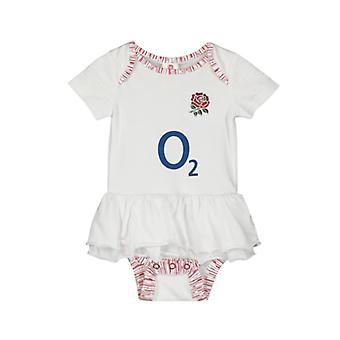 Αγγλία RFU μωρά κοριτσίστικα φορμάκι | Λευκό | 2019/20 σεζόν