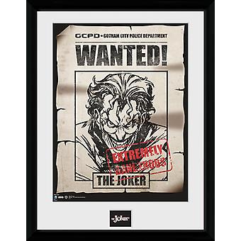 Batman tegneserier Joker ønskede indrammet Collector Print 40x30cm