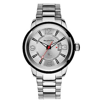 ORPHELIA Mens Analogue Watch Black Touch Silver Stainless steel 122-7703-88